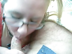 her passion blowing her hubby's bent. little cock