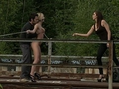 Euro broad gets punished in public