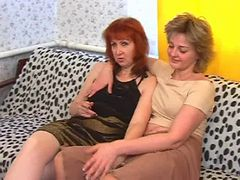 Young-looking lesbians and moreover a old dame