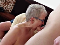 70+ Couple Invites Young Man for a 3some R20