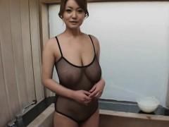Japanese slut big boobs cum covered