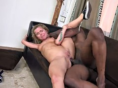 American cheerleader girl Alina West takes huge black cock in her small ass