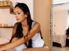 Sexy latina cam model wearing long sexy white socks