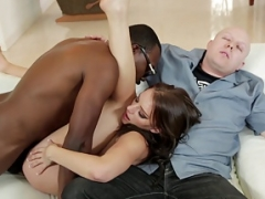 Eager mom Gets down and dirty a Black Guy in Front of Husband