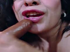 Amazing Ass Latina MILF Camgirl Cums On Dildo