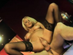 Stunning blonde looker has her pussy drilled