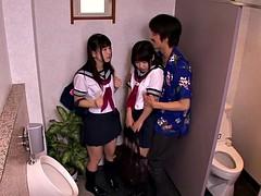 Japonaise, Adolescente, Plan cul à trois