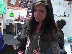 Glamorous fearless girl loves college sex