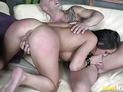 Choking and doggy ramming is perfect for Angelina Valentine
