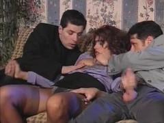 Italien threesome Double penetration 90s