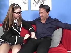 Schoolgirl gets fucked