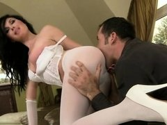 Hot pornstar nylon with cumshot