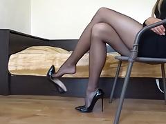 Noire, Fétiche des pieds, Branlette thaïlandaise, Hd, Talons, Fait maison, Jarretelles