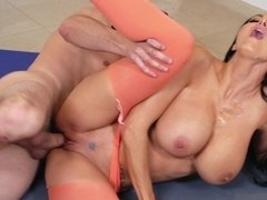 After yoga hardcore sex with busty Ava Addams