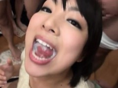 Asiatique, Sucer une bite, Éjaculation interne, Tir de sperme, Faciale, Japonaise