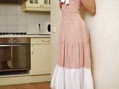 Horny housewife Mari solo action