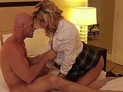 Slutty schoolgirl gets a proper education