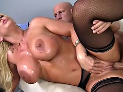 Milf boss Alura opens wide her legs for a big cock