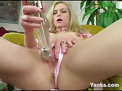 Busty Annika Playing With A Dildo