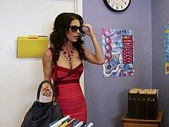 Nice-looking teacher meets her dream man and has an intercourse