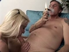 Mature Cigar Smoking Fella Bangs Mature Female (1-3)