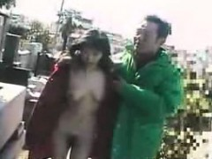 Naughty Oriental babe gets her tight hairy cunt fingered an