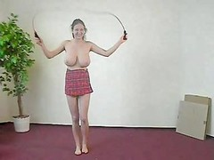 Breasty Jumping Rope