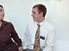 Mormon slut gets cumshot