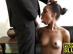 Cute ebony girl Sade Rose rides hard Pascals big hard cock