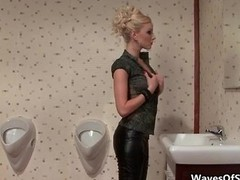 Fit blonde broad blowing off of a sizeable love tool part2