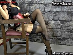 High heel and foot worship with Mistress Tangent