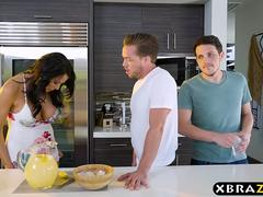 Housewife with big boobies fucks a much younger guy