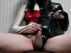masturbation, which puts on latex figure skating clothes