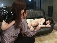 Sexy brunette gal uses her number one choice sextoy for pleasure