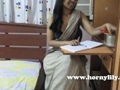 HornyLily sexy Bhabhi tutor dirty talking and seducing her students
