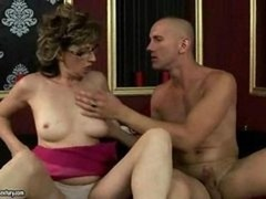 Hot old lady getting fucked hard