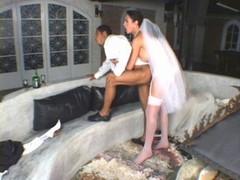 Transsexual bride love poles