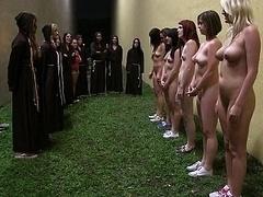 Universitaria, Dominación, Grupo, Lesbiana, Fiesta, Realidad, Desnudarse, Adolescente