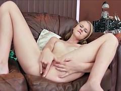 lily rider solo dildo masturbation