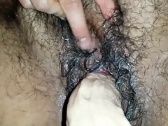 Dildo in My Fat Hairy Creamy Wet Pussy