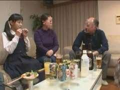 Teens gets ambushed in the Bathroom - Rina Hatsume (3 of trio)