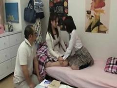 Asiático, Penetracion con dedos, Japonés, Trio
