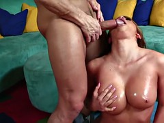 Trashy Slut Sucks Cock and Gets Drilled