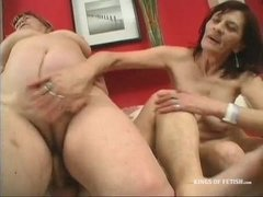 Two Grannies Fucking Younger Man