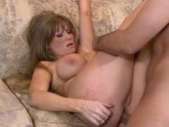 Anal mommy takes him balls deep and moans about it