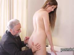 Ideal schoolgirl is tempted and fucked by her aged mentor