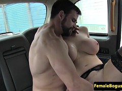 Cabbie whore does her best to get covered in spunk