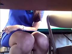 Teacher Under Table Upskirt!