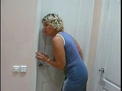 Mom Spying On Son Will He Was In Shower Than She..