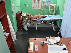 Euro nurse cocksucking her doctor before sex